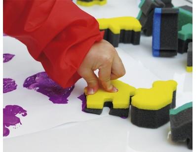 Lowercase Letter printing sponges