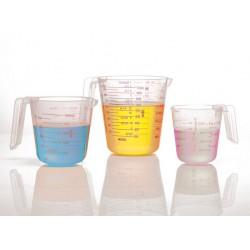 3 graduated jugs