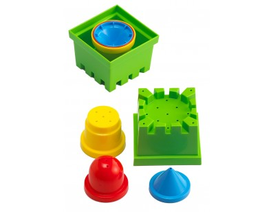 Stacking sand/water molds