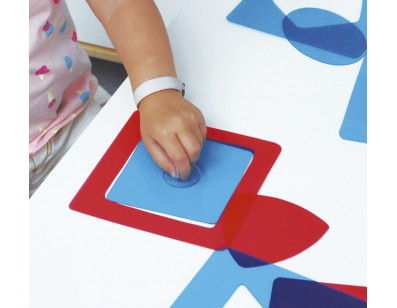 Montessori shapes for light tables