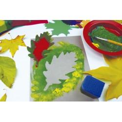 Translucent leaf stencils