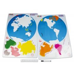Descubre los continentes del mundo