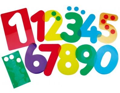 Siluetas Números Traslúcidos