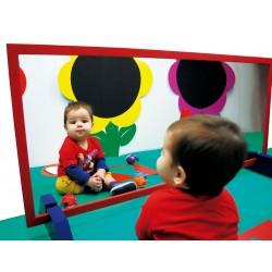 Kinderspiegel mit Holz Rahmen
